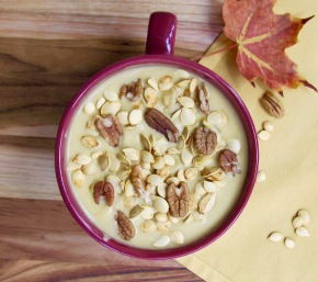 Roasted Autumn Squash and Pecan Soup